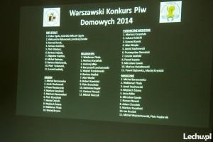 Rozdanie nagród Warszawskiego Konkursu Piw Domowych 2014 Zdjęcia autorstwa Leszka Stachowskiego